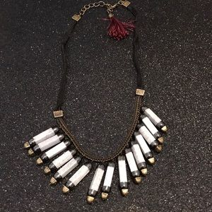 Rope stone necklace